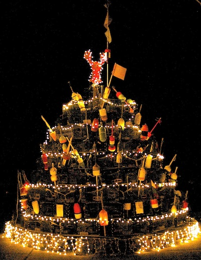 Merry Christmas 2013 Plymouth Ma. Lobster Trap Christmas Tree,